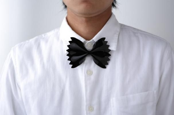 Guess what the Farfalle bow tie is inspired by?: Formal Wear, Bows Ties, Pasta Bows, Black Ties Affair, Black White, Japanese Design, Bowties, Farfalle Pasta, Design Studios