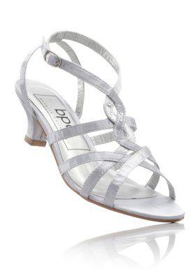 Sandalette, bpc bonprix collection, silber