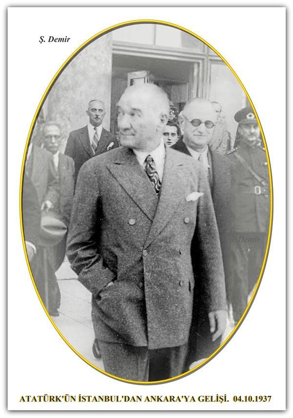 ATATÜRK'ÜN İSTANBUL'DAN ANKARA'YA GELİŞİ. 04.10.1937