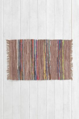 Magical Thinking Striped Leather Rug