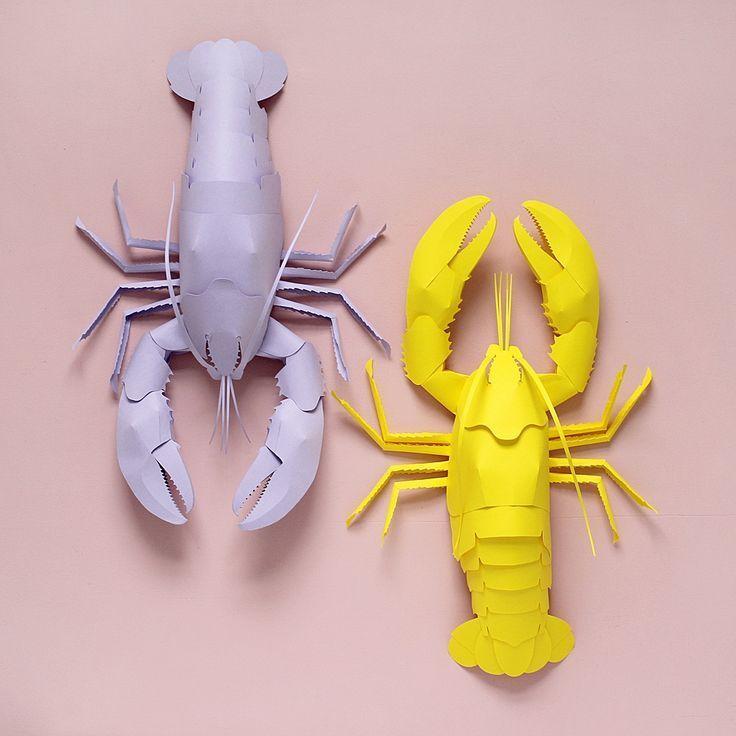 Meet The Artist Sarah Matthews Hello Wonderful Paper Art Design Paper Crafts For Kids Lobster Crafts