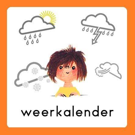 Takenbord Floddertje: weerkalender