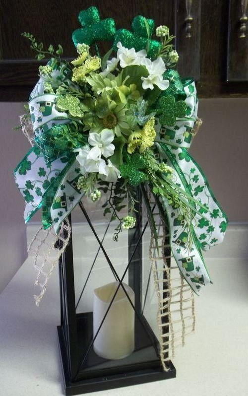 """ERIN GO BRAGH"" -  Decorative St. Patrick's Day Swag/Bow by DecorClassicFlorals, $34.95"