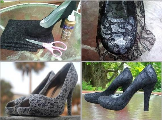 Couple of shoe diy/upcycles. I'll try the lace one