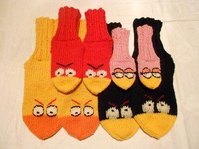 Angry Birds sukkia (socks)