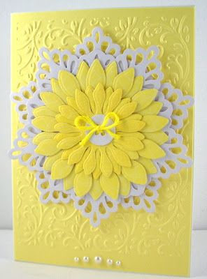 cards: Cards Handmade Diy, White Flowers, Cards Create Handmade, Greeting Cards, Jenfa Cards, Sunflowers Cards, White Cards, Gorgeous Yellow, Cards Diy