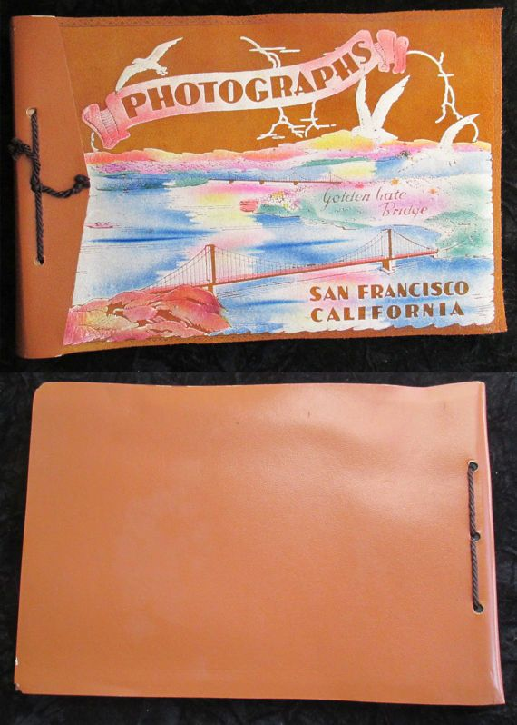 Vintage 30s Flocked Leather Flocked San by FourCoquettes on Etsy
