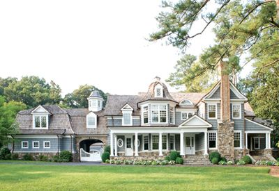 Large William T. Baker-designed New England shake-and-stone-style home on West Wesley Road, Atlanta, GA