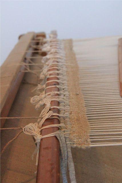 Loimen laittaminen kangaspuihin 3/5 pirtaan pistely