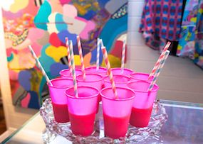 Fav summer cocktail time (again!) Blend coconut water with frozen fruit & a dash of vodka xx