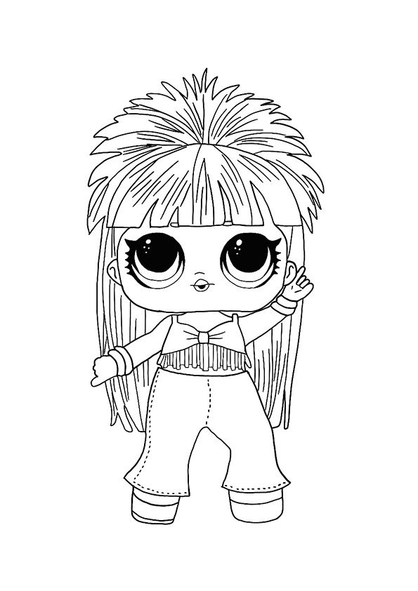 Lol Hairvibes Disco Queen Coloring Page Coloring Pages Cool Coloring Pages Star Coloring Pages