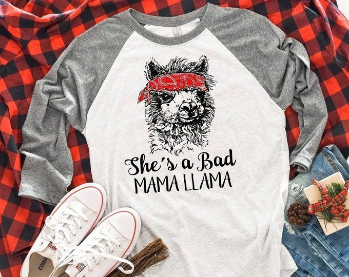 7e95c10b8 Llama Gift Mom Shirt Mama Llama Shirt Graphic Tees for | Etsy | Shop ...