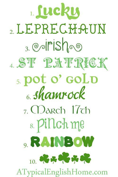 st patricks day fonts