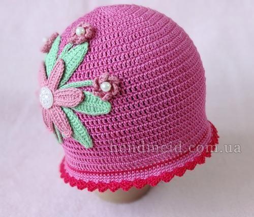 Шляпа для весны крючком схема