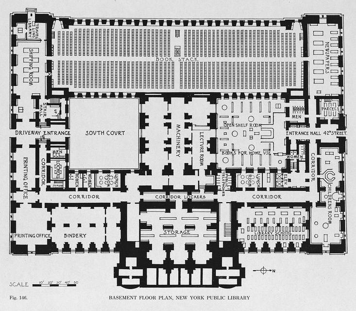 Basement Floor Plan Of The New York Public Library  New