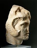 Head of unconquered Alexander the Great, Hellenistic statue in Pentelic marble, Athens, Greece, Greek civilization, 4th Century BC