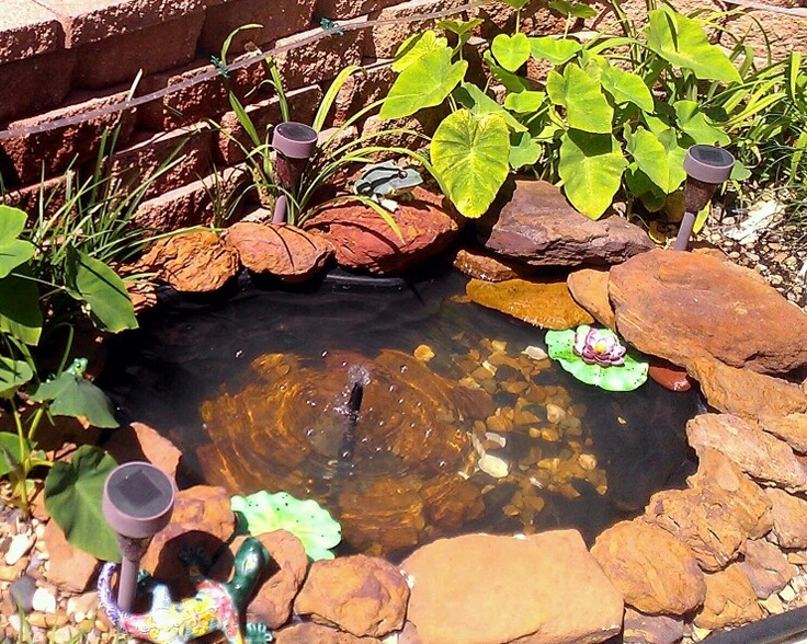 690 best images about garden fountains and ponds on pinterest for Pond fountain ideas