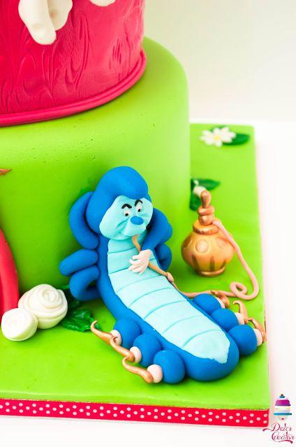Disney Caterpillar on the cake inspired to Alice in Wonderland