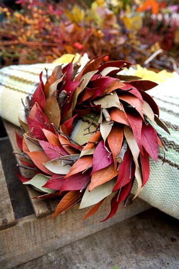 Beautiful leaf wreath