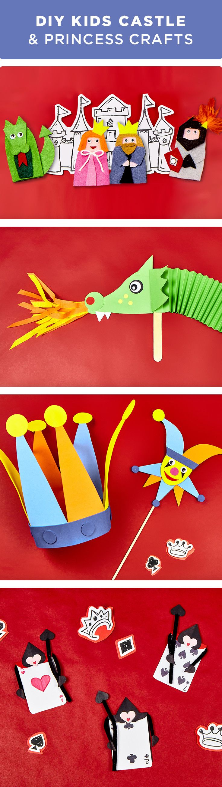 Kids Can Learn All About Castles Dragons Princesses With These Fun And Simple Crafts