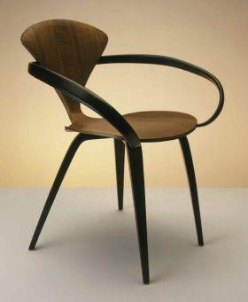 cherner chair designed by norman cherner made of walnut veneer plywood