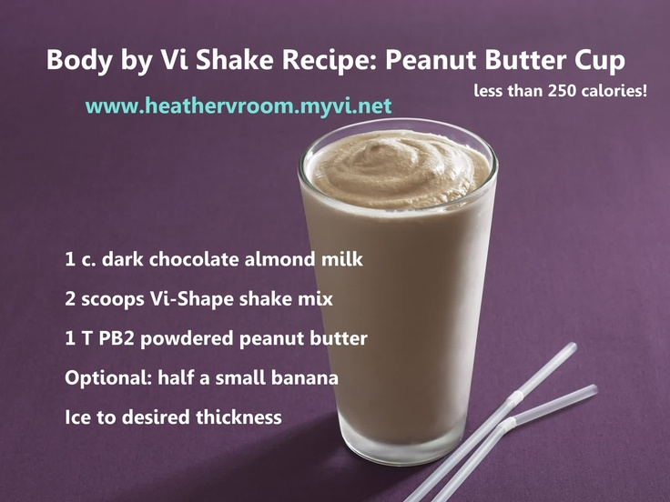 Body by Vi Shake Recipe: Peanut Butter Cup