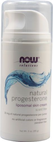 NOW Foods Solutions Natural Progesterone Cream Scent Free -- 3 oz - Vitacost