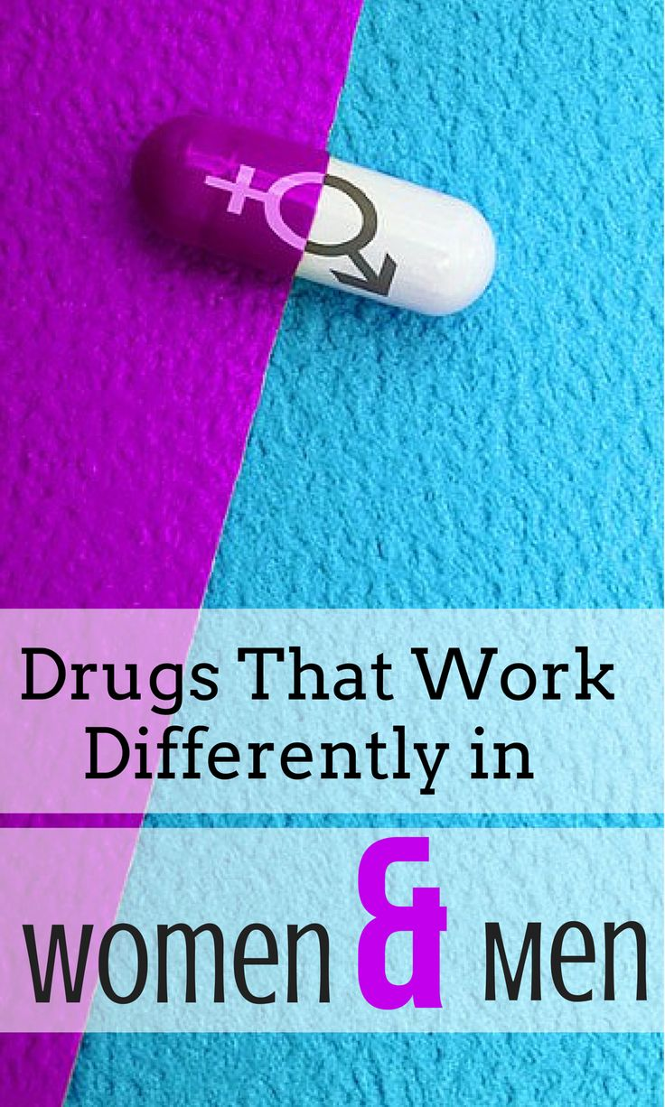 Drugs That Work Differently in a Women than men