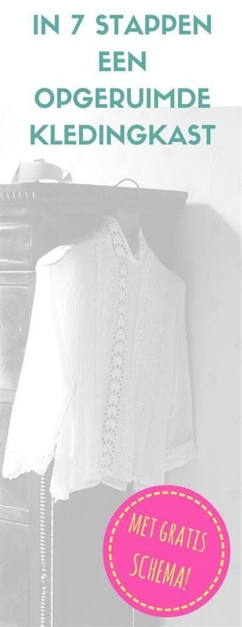 kledingkast opruimen | kleding organiseren | gratis schema | gratis kinder kledingkast labels | DIY | www.helderenklaar.nl | professional organizing | hulp bij opruimen | time management | voor werkende moeders