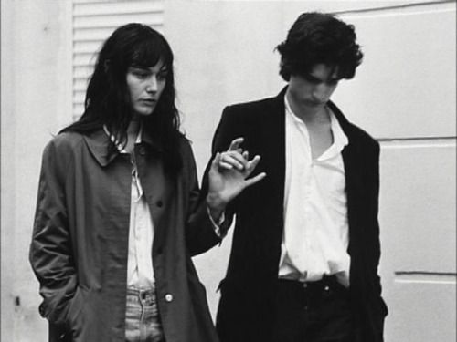 "adieufranz:   Louis Garrel and Clotilde Hesme on the set of ""Les..."