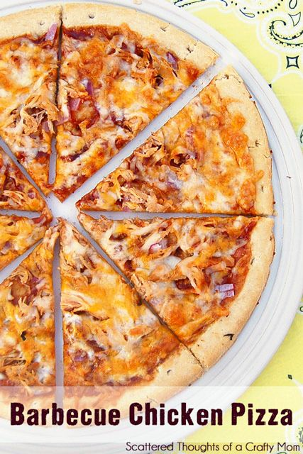 Scattered Thoughts of a Crafty Mom: The Best Barbecue Chicken Pizza! {Gluten Free Pizza Recipe}