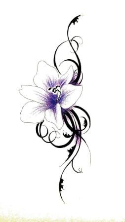 die besten 25 blumen tattoo designs ideen auf pinterest kn chel t towierung tattoo designs. Black Bedroom Furniture Sets. Home Design Ideas