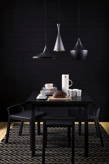 Beat lights by Tom Dixon. Styling by Susanna Vento.