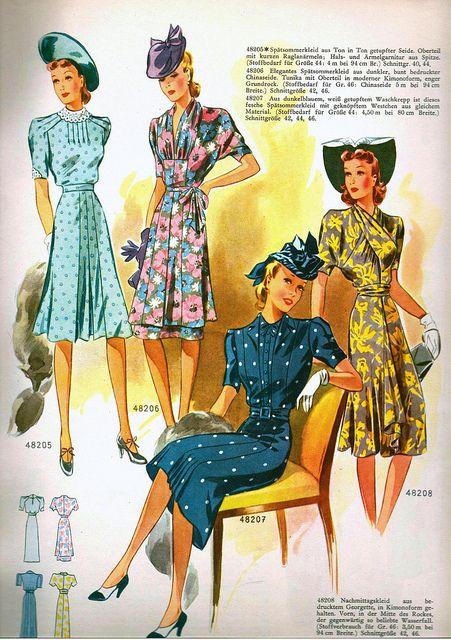 1941 wiener bunte mode german pattern magazine magazines 1940s fashion and 1940s. Black Bedroom Furniture Sets. Home Design Ideas