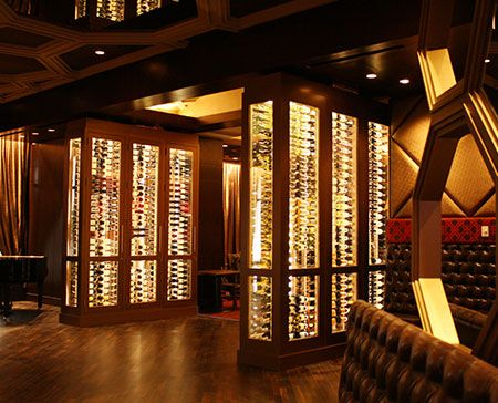 Awesome Vigilant Glass And Steel Wine Cabinets Grace New Baltimore Horseshoe Casino  #WineCabinets #MetalWineRacks # Nice Design