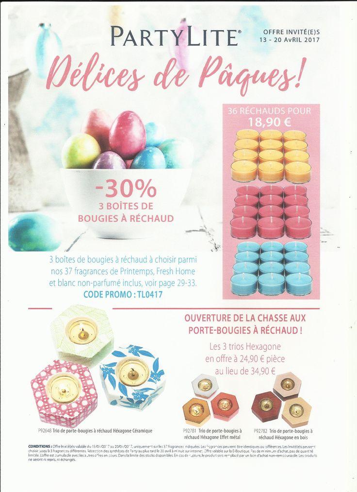 Super promo de pâques chez PartyLite. Vos fragrances sont à l'honneur    E. boutique : http://sofy.partylite.fr/