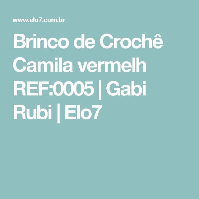 Brinco de Crochê Camila vermelh REF:0005 | Gabi Rubi | Elo7