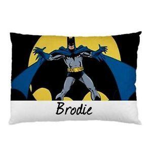Batman-Personalised-Pillowcase-Kids-Childrens-You-Choose-Name