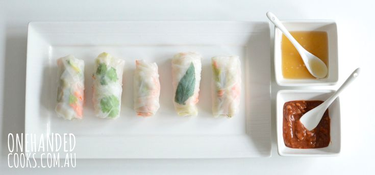 I love rice paper rolls and I have been meaning to make these for the blog ever since I joined One Handed Cooks. I must admit however, if you are making them all at once you will need a bit of extra time up your sleeve and two hands. BUT, if you prepare all the …