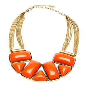 statement w/orange: Jewelry Necklaces, Katharine Necklaces, Singh Bridgehampton, Bridgehampton Necklaces, Orange Statement, Orange Necklaces, Coral Statement Necklaces, Amrita Singh, Bibs Necklaces