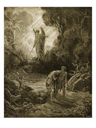 Adam and Eve by Gustave Dore.