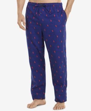 Polo Ralph Lauren Men's Flannel Pony-Print Pajama Pants -