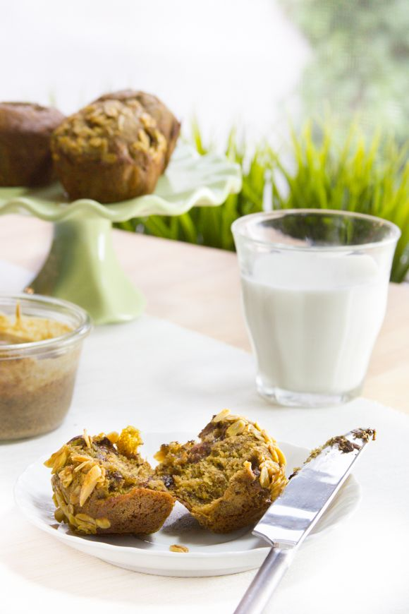 The Nutiest Banana Espresso Muffins