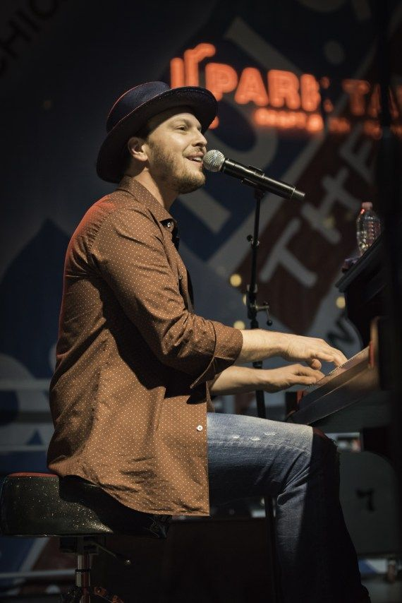 Gavin DeGraw at MB Financial Park on August 24, 2016