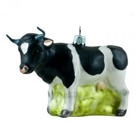Glass ornament - a cow