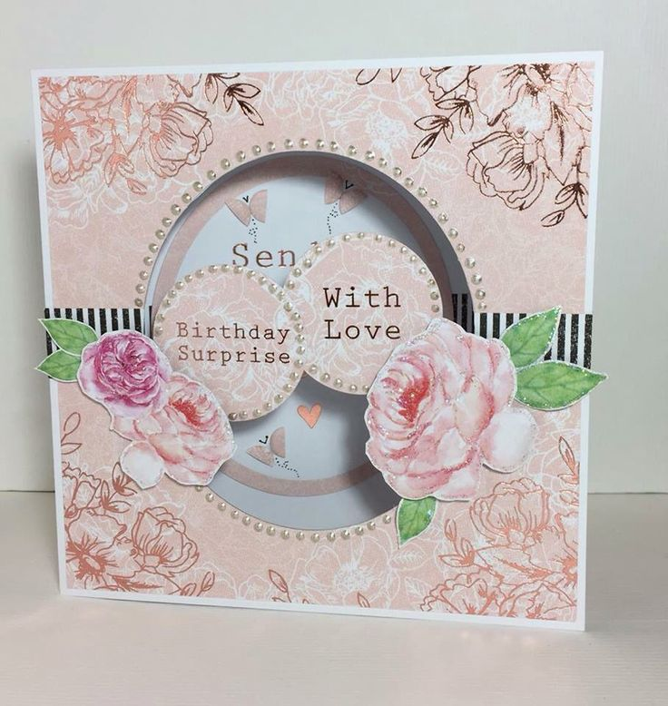 Card created using Heritage Rose collection, designed by Julie Hickey