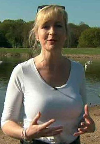 Carol   Kirkwood ive got a big pair she sure as, love to play with them.