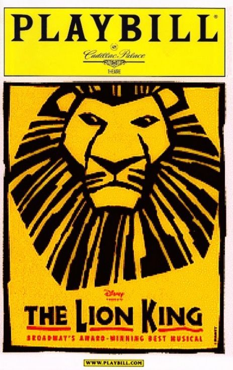 """Chicago, IL premiere of """"The Lion King"""" at the Cadillac Palace Theatre, located at 151 W. Randolph Street ... Second National Tour ... May 3, 2003 - January 18, 2004 (Preview Performances began April 23, 2003) ..  Scenic Design by Richard Hudson ... Puppet Design by Julie Taymor and Michael Curry  ... Music by Elton John ... Lyrics by Tim Rice, Lebo M, Julie Taymor, Etc...  The cast included Brandon Victor Dixon, Thandazile A. Soni,, and Rufus Bonds, Jr."""