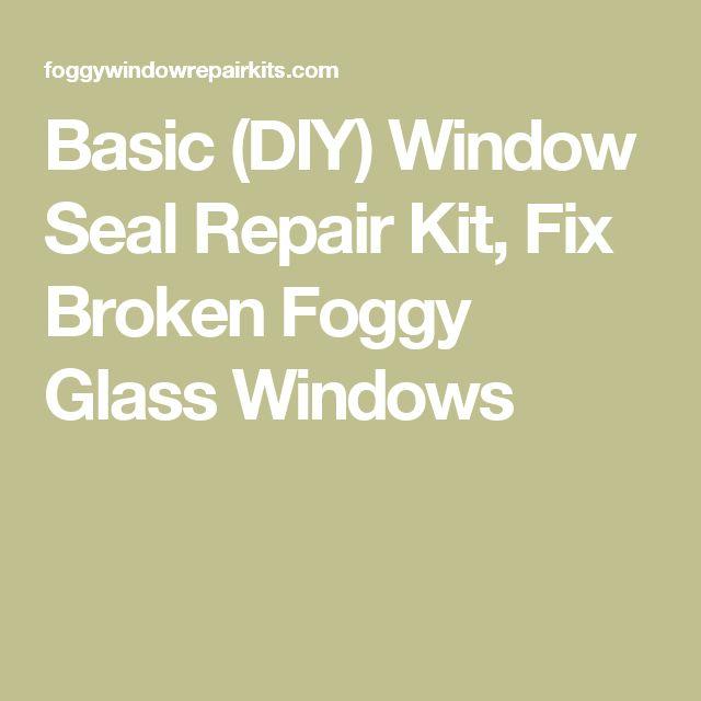 Basic (DIY) Window Seal Repair Kit, Fix Broken Foggy Glass Windows