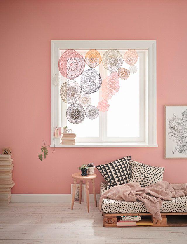 Cortina de blondas. ¿Utilizar el rosa en decoración?   DECORA TU ALMA - Blog de decoración, interiorismo, niños, trucos, diseño, arte...